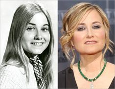 Marcia Brady (Maureen McCormick) as she appeared on the show 'The Brady Bunch' and now, grown up. Image Credit: ABC News