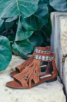 Crazy for these cute fringe Steve Madden sandals.