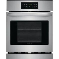Frigidaire 24 Inch Single Electric Oven with Vari-Broil™ Temperature Control, Quick Clean, Oven Rack Handles, Auto Shut-Off and cu. Single Electric Oven, Electric Wall Oven, Single Wide Remodel, Single Wall Oven, Stainless Steel Oven, Cooking Temperatures, Kitchen Timers, Oven Cleaning, Oven Racks