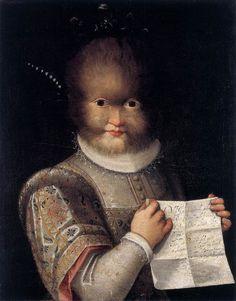 "Lavinia Fontana's portrait of Antonietta Gonzalez (also written as ""Gonzales,"" c. 1595."