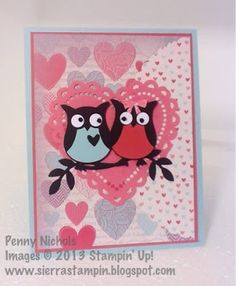 Stampin' Up! Owl Builder card