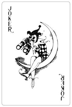 joker girl moon card - Google Search