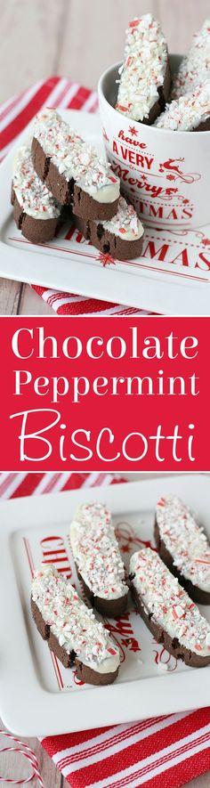 Delicious recipe for CHOCOLATE PEPPERMINT BISCOTTI