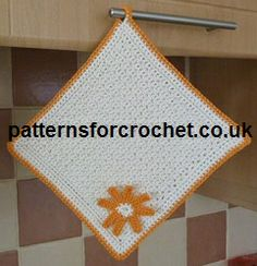 Potholder free crochet pattern from http://www.patternsforcrochet.co.uk/pot-holder-usa.html #patternsforcrochet