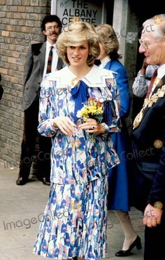 May 23, 1984: Princess Diana visits the Albany Community Centre in Deptford, London, to view a display of posters