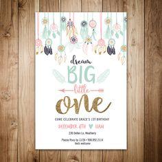 Dream Big Little One Birthday Invitation
