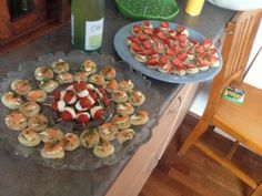 Sweet & savoury canapés - great for a casual dinner with friends
