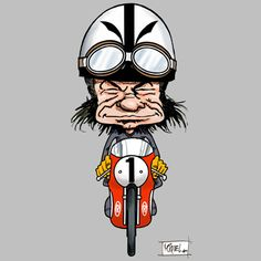 Infografies4 Cartoon Crazy, Cartoon Toys, Cartoon People, Flat Track Motorcycle, Motorcycle Art, Bike Art, Motorbike Drawing, Ducati, Riders On The Storm