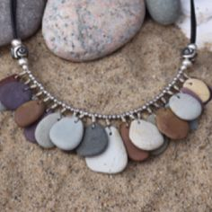 Cape Cod Beach Stone Scores of stones necklace   www.kemdesigns.net
