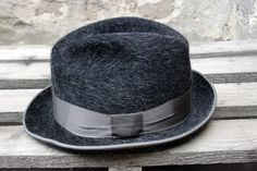 Can't you see Chalky on BE donning this beauty. Vintage 1950s Grey Fedora / Trilby Hat by ThePenduline on Etsy, €32.00