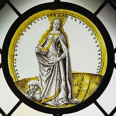 Roundel with Saint Catherine of Alexandria.  Date:     ca. 1500. Culture:     South Netherlandish.