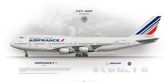https://flic.kr/p/KYLTem | Boeing 747-400 Air France F-GITJ | www.aviaposter.com