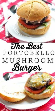 Perfect for summer grilling! This Portobello Mushroom burger is a great grill recipe and even the meat lovers love this vegetarian burger! You'll be making this grilled Portobello Mushroom recipe all summer long! Portabella Burger, Grilled Portabella Mushrooms, Grilled Portobello, Stuffed Mushrooms, Vegan Mushroom Burger, Portobello Mushroom Recipes, Chipotle Mayo, Clean Eating Recipes, Healthy Eating