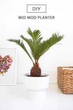 Mid Modern Planter - Sugar & Cloth - Houston Blogger - DIY - Home Decor
