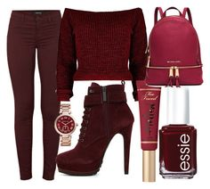"""Untitled #10"" by ely-staar on Polyvore featuring J Brand, ALDO, Too Faced Cosmetics, Essie, MICHAEL Michael Kors and Michael Kors"
