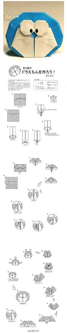 doraemon origami diagram