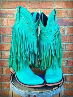 Fringe Stivali Ragazza Del Sud - Turquoise