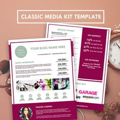 free electronic press kit template - one page media kit template press kit template