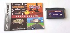 Gameboy Advance Game Gba SP DS Dsl NAMCO MUSEUM + Manual Arcade Classic Hits