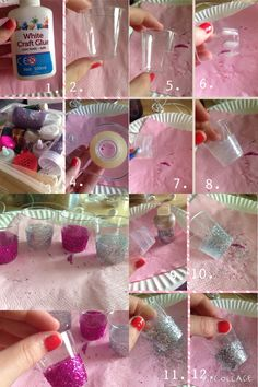 Top 5 Bachelorette Party Tips to Make Any Party a Success Really cute DIY. Shot glasses with glitter at the bottom and they look great but they& super easy! Here& what you& need: Shot glasses. Birthday Crafts, 21st Birthday, Birthday Parties, Birthday Ideas, Bachelorette Crafts, Birthday Girl Pictures, Rock Star Party, Birthday Card Sayings, Best Birthday Wishes