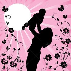 12053218-mother-and-child-Stock-Vector-mother-baby.jpg (1297×1300)