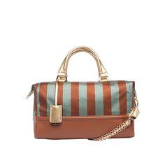 Teal Arabella Duffle Satchel by Ivanka Trump Designer Totes, Beautiful Handbags, Ivanka Trump, Dust Bag, Satchel, Teal, Stripes, Purses, Fashion Trends