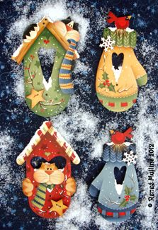 #192  Winter Home Ornaments (Pattern Packet)  Wood Kits Available  www.plumpurdy.com