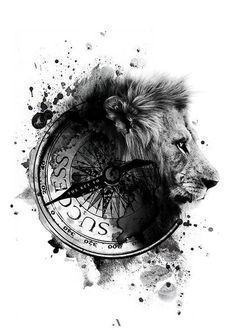 Replace lion with wolf, griffon or sabre tooth Compass wordi.- Replace lion with wolf, griffon or sabre tooth Compass wording & labe& Replace lion with wolf, griffon or sabre tooth Compass wording & labe& - 10 Tattoo, Body Art Tattoos, New Tattoos, Girl Tattoos, Sleeve Tattoos, Tattoos For Guys, Tatoos, Lion Tattoo Design, Tattoo Designs