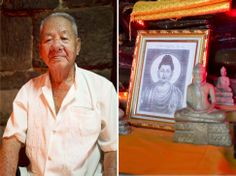Diptychs from Phnom Penh, Cambodia, SE Asia / a blessing in a Buddhist pagoda