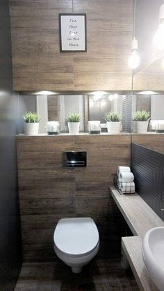 Inspiracao Lavabo inspiracao lavabo Genel is part of Modern toilet - Downstairs Bathroom, Bathroom Layout, Small Bathroom, Bathroom Wall, Small Toilet Room, Guest Toilet, Bathroom Design Luxury, Modern Bathroom Design, Bad Inspiration