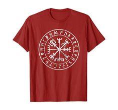 Vikings Compass Vegvisir Viking Symbol T-Shirt Nordic Symbols, Viking Symbols, Ancient Symbols, Viking Shirt, Viking Helmet, Vikings, Bachelor Gifts, Warriors Shirt, Shops