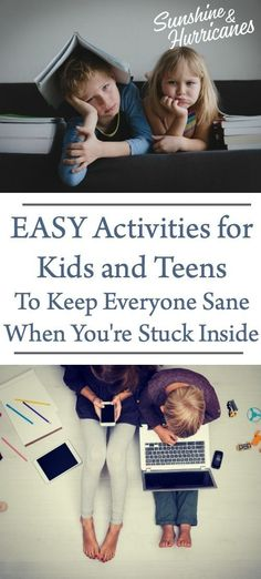 Easy Activities for Kids and Teens To Keep Everyone Sane When You're Stuck Inside Parenting Articles, Parenting Teens, Good Parenting, Parenting Hacks, Activities For Teens, Educational Activities For Kids, Summer Activities, Family Activities, Learning Activities