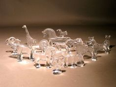 1stdibs.com | Collection of 14 Kosta Boda Glass Zoo Series Animals by Erik Hoglund