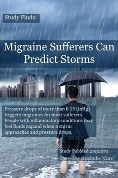 Migraine sufferers can predict storms
