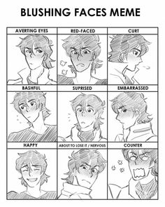 VLD expression meme - blushy-faces from Keith MY SON IS SO ADORABLE I LOVE HIM
