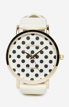 Polka Dots Face Watch