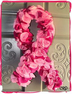 Breast Cancer Awareness Pink Ribbon Fabric by CharleeRoseDesigns, $30.00