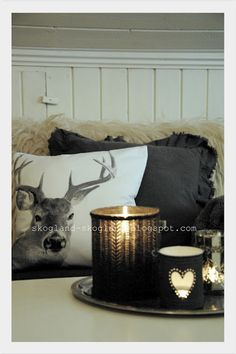 ...reindeer and twinkles in charcoal