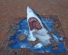 Geweldig mooie 3D tekening!  Edgar Mueller, street art