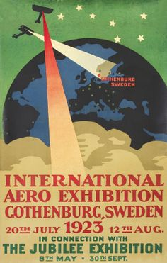 International Aero Exhibition - Gothenburg, Sweden by Meurling | Vintage Posters at International Poster Gallery