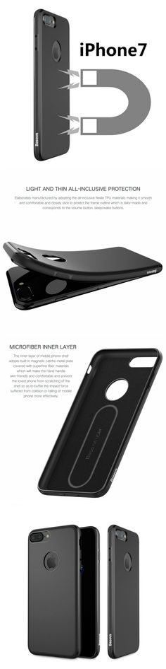Baseus ultra slim case with magnet for iPhone 7 Plus. Great gift products for iPhone users. Fits well into workout and gym clothes. Great gift products for Apple iPhone 7 users, men and women and those who are active in health, fitness and travel  #tech #iphone #gadgets