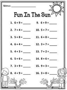 Printable Adding Worksheets | Kindergarten Addition Worksheet ...