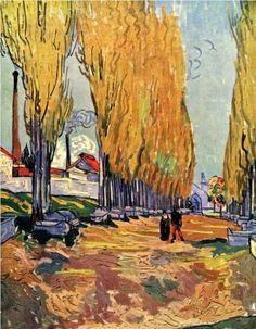 Vincent van Gogh (Dutch 1853–1890) [Post-Impressionism] Les Alyscamps.