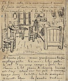 page from Vincent Van Gogh's sketchbook