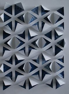 3d Paper Art, Diy Paper, Paper Crafts, Origami And Kirigami, Origami Paper, Paper Structure, Diy Décoration, Paper Folding, Fabric Manipulation