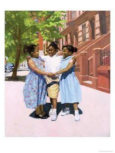 African American Art Painting - Friends by Colin Bootman Black Girl Art, Art Girl, Canvas Art, Canvas Prints, Art Prints, Minecraft Banner Designs, Friend Canvas, Friends Poster, Thing 1