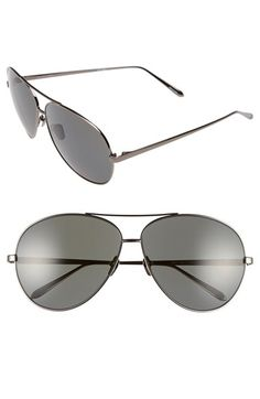 8a3dfbed1f Linda Farrow 64mm Aviator Sunglasses available at  Nordstrom Linda Farrow
