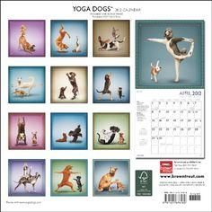 Yoga Dogs & Yoga Puppies 2012 Square 12x12 Wall Calendar