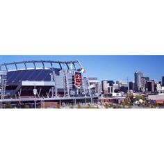 Stadium in a city Sports Authority Field at Mile High Denver Denver County Colorado USA Canvas Art - Panoramic Images (18 x 6)