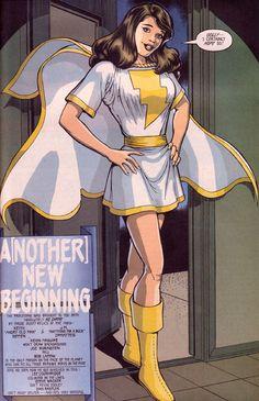 Mary Marvel by Kevin Macguire Original Captain Marvel, Captain Marvel Shazam, Marvel Dc, Supergirl, Dr Fate, Dc Comics Girls, Comic Book Girl, Arte Dc Comics, Female Hero